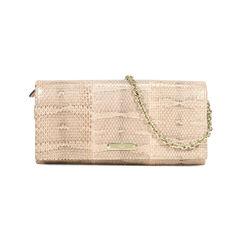Snakeskin Wallet on Chain Clutch