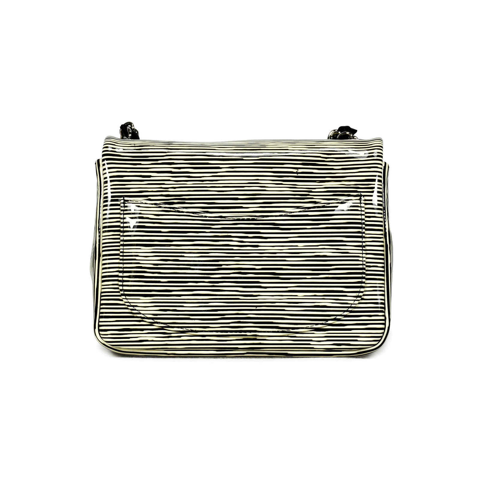 91dcee6b21f7 ... Authentic Second Hand Chanel Striped Patent Mini Classic Flap Bag  (PSS-139-00030 ...