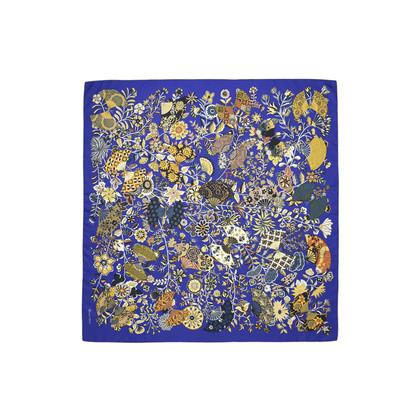 Hermes Fleurs Et Papillons De Tissus Scarf