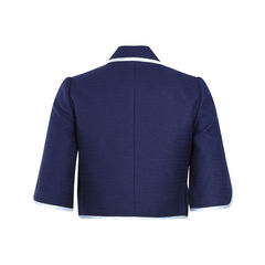Moiselle navy cropped jacket 2?1503995508