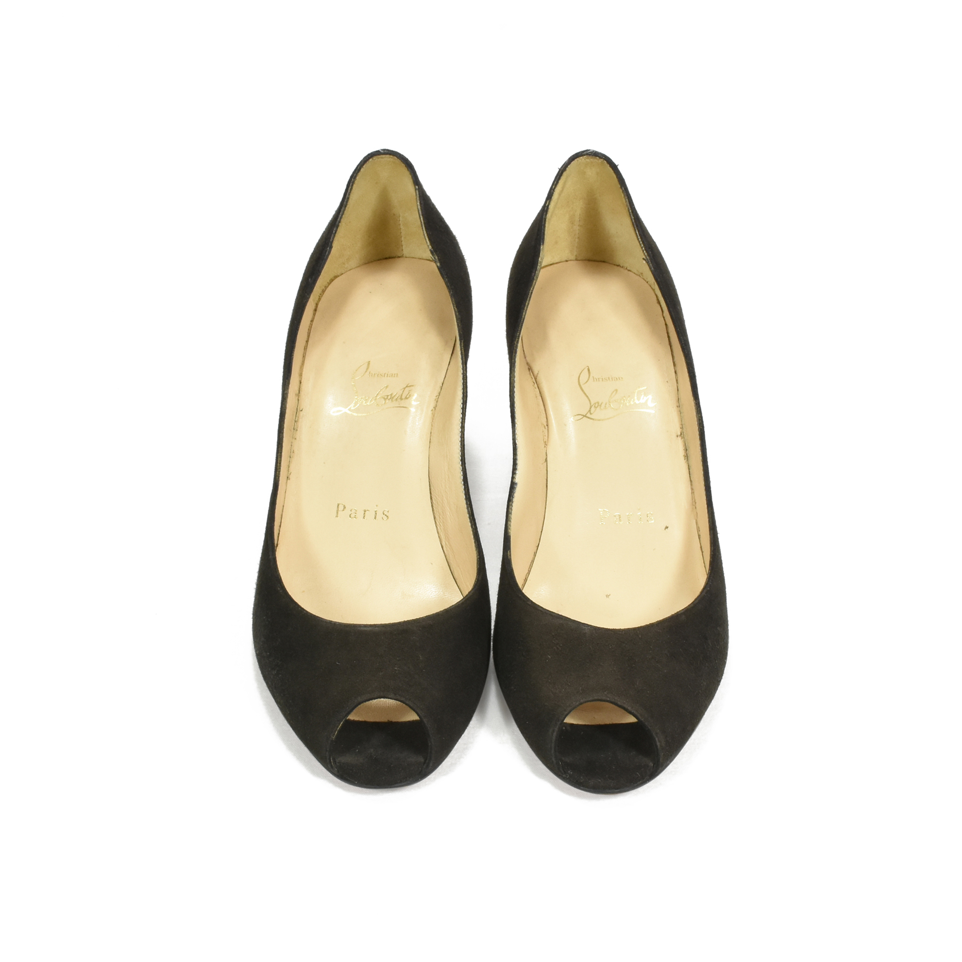 low priced 59a38 a8cfd Suede Peep-Toe Pumps