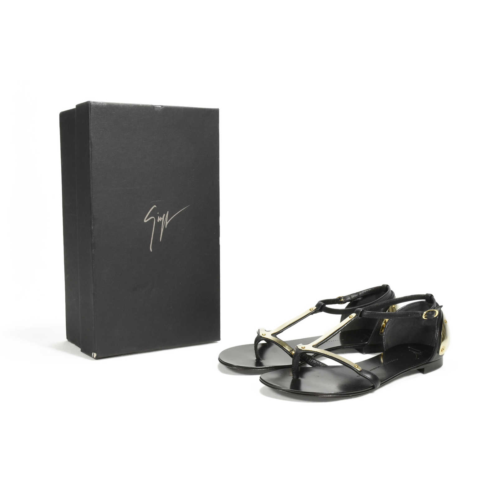 6b6191d1bbe01 ... Authentic Second Hand Giuseppe Zanotti Rock 10 Infradito Sandals  (PSS-369-00039)