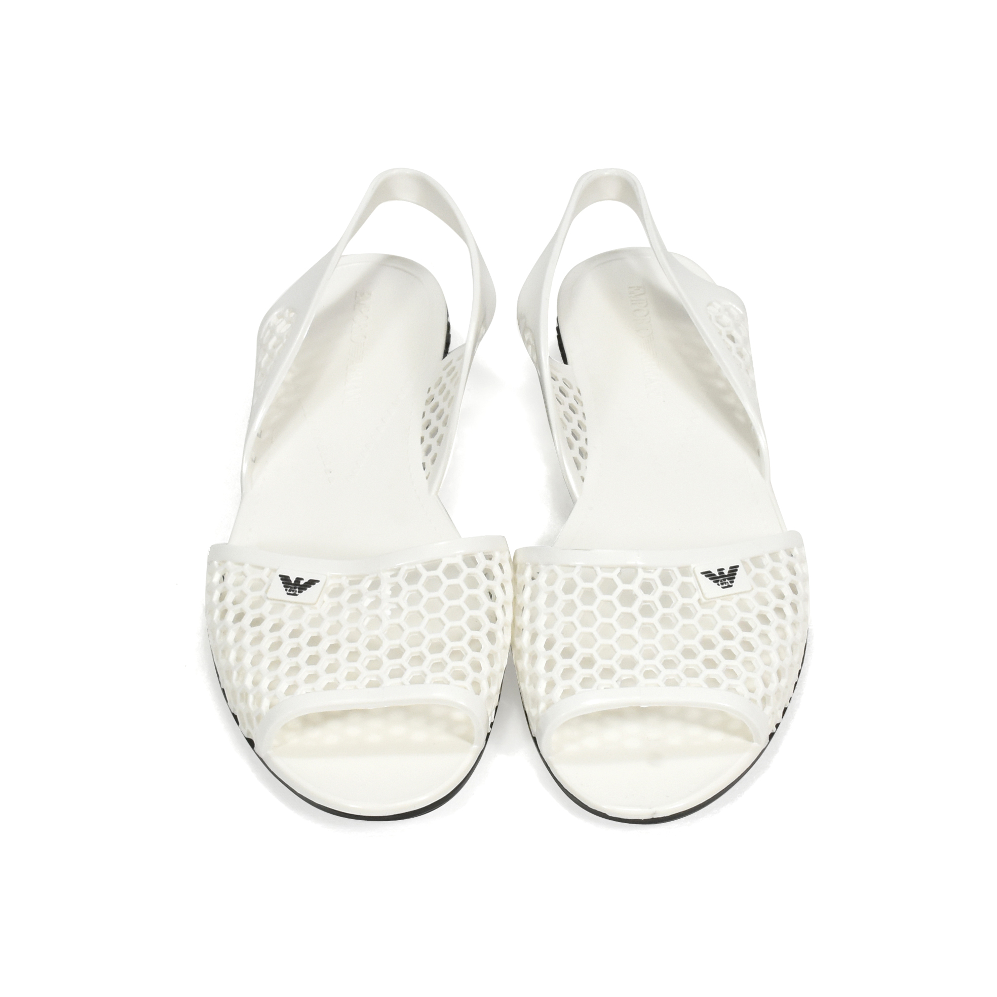 3a1661705 Authentic Second Hand Emporio Armani Perforated Jelly Slingbacks  (PSS-369-00040)
