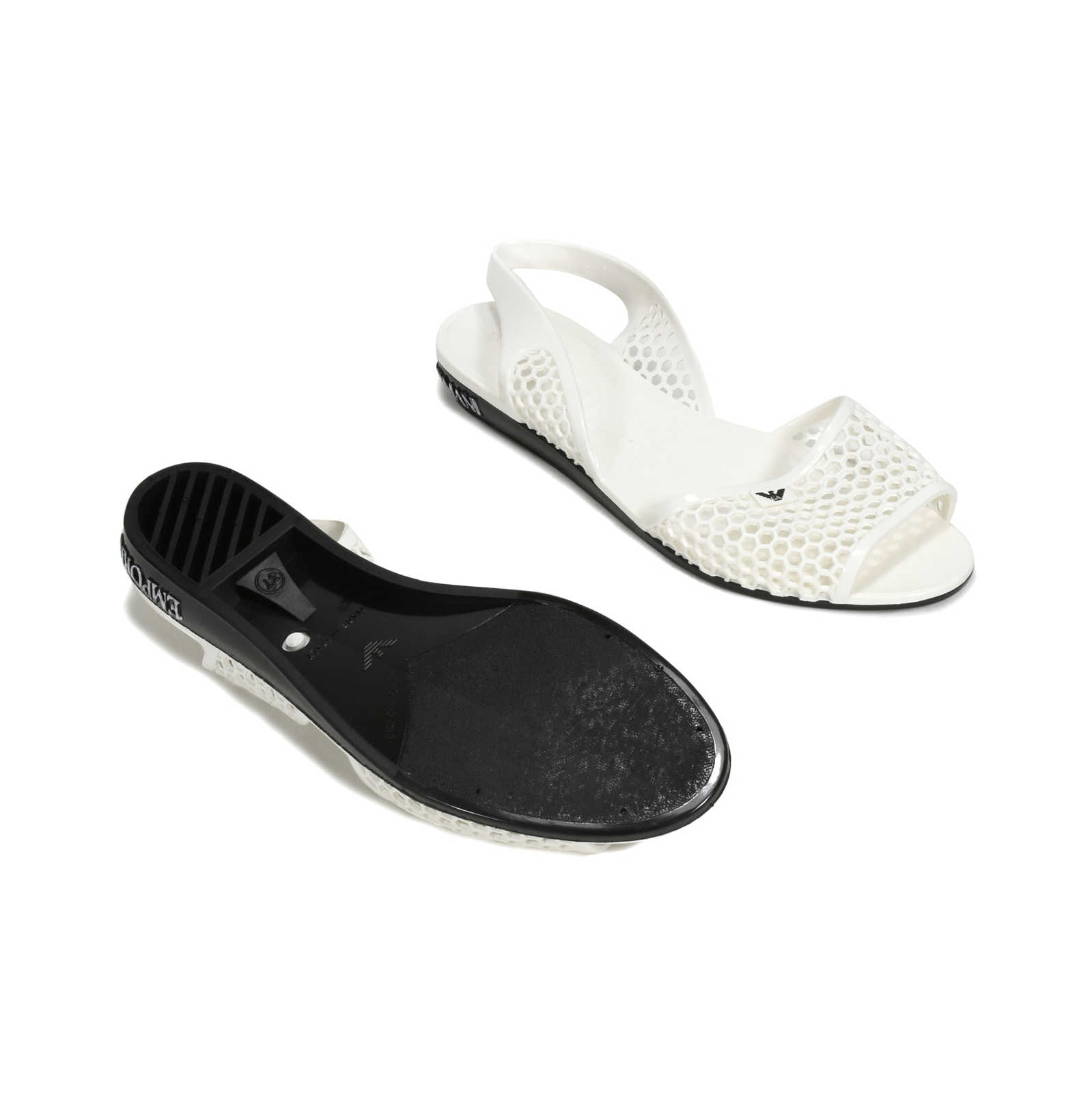 868f46543 ... Authentic Second Hand Emporio Armani Perforated Jelly Slingbacks  (PSS-369-00040) ...