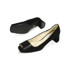 Prada suede buckle pumps 2?1504081873
