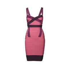 Honeysuckle Raspberry Bandage Dress