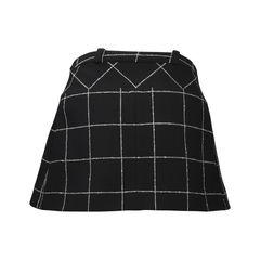 Balenciaga checked wool blend skirt 2?1504515645