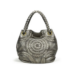 Bottega veneta metallic intrecciato trimmed tote bag 2?1504519911