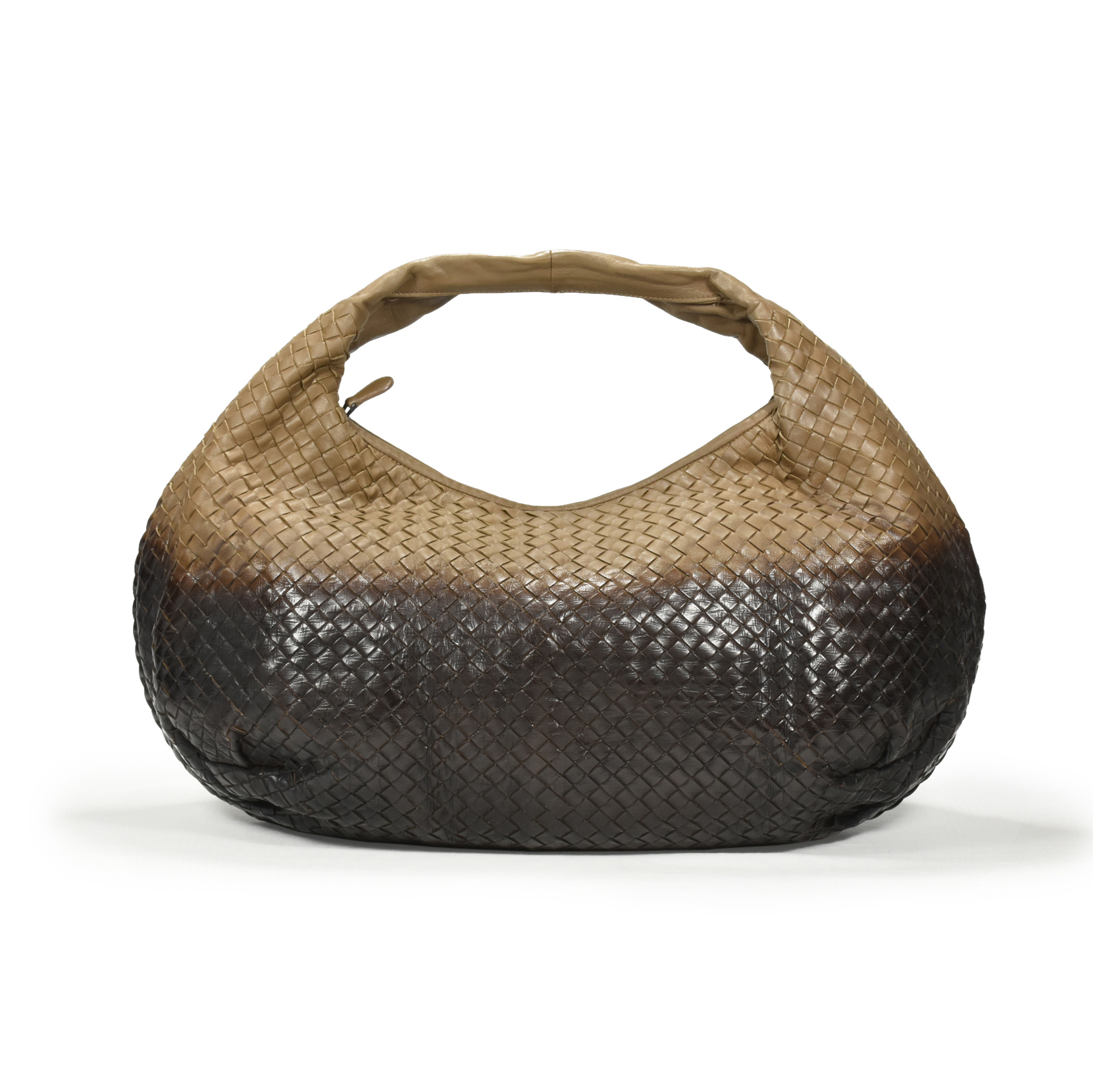 e26735557e82e9 Authentic Second Hand Bottega Veneta Intrecciato Large Ombre Hobo Bag  (PSS-355-00007) | THE FIFTH COLLECTION