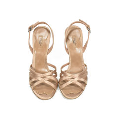 Glass Wedge Sandals