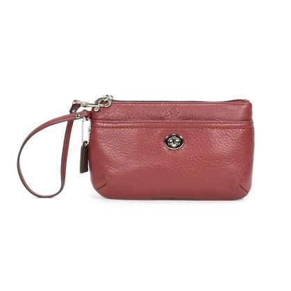 Authentic Second Hand Coach Park Leather Wristlet (PSS-371-00004)