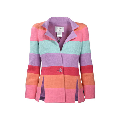Chanel Rainbow Stripe Tweed Jacket