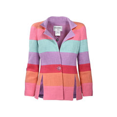 Rainbow Stripe Tweed Jacket
