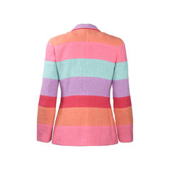 Chanel rainbow stripe tweed jacket 2?1504589465
