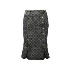 Monogram Denim Skirt