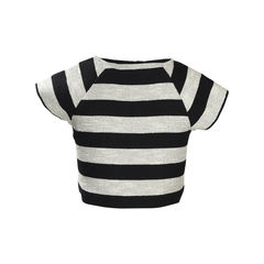 Alice olivia striped zip front crop top 2?1504591280