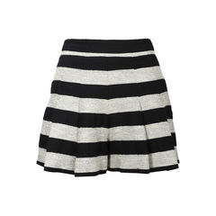 Striped Box Pleat Shorts