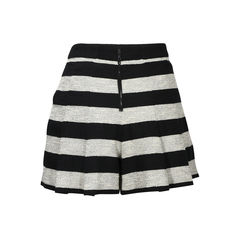 Alice olivia striped box pleat shorts 2?1504591316