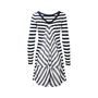 Authentic Second Hand Armani Jeans Stripe Sweater Dress (PSS-375-00020) - Thumbnail 1