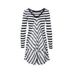 Armani jeans stripe sweater dress 2?1504686666