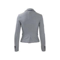 Armani jeans cotton stripe blazer 2?1504687135