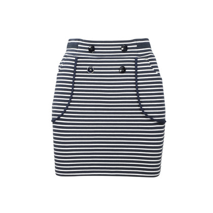 Authentic Second Hand Armani Jeans Cotton Stripe Skirt (PSS-375-00022)