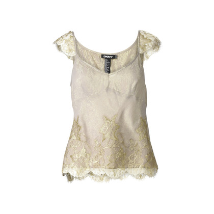 Authentic Second Hand DKNY Taupe Metallic Slip Tank (PSS-388-00001)