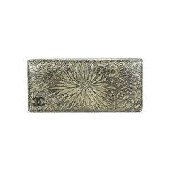 Floral Metallic Gold Clutch