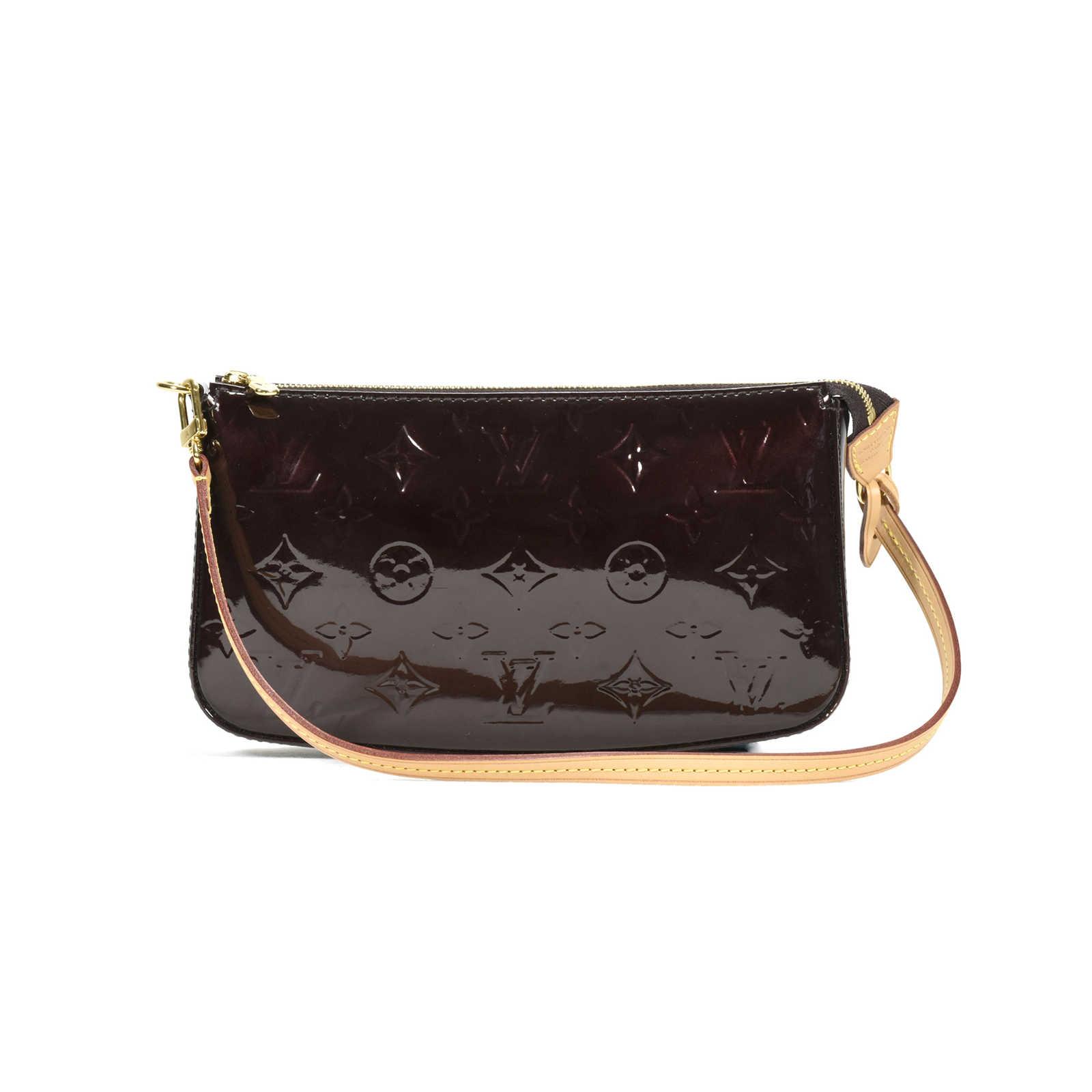 7d0d9c55ee49 Tap to expand · Authentic Second Hand Louis Vuitton Monogram Vernis  Pochette Bag (PSS-394-00006) ...