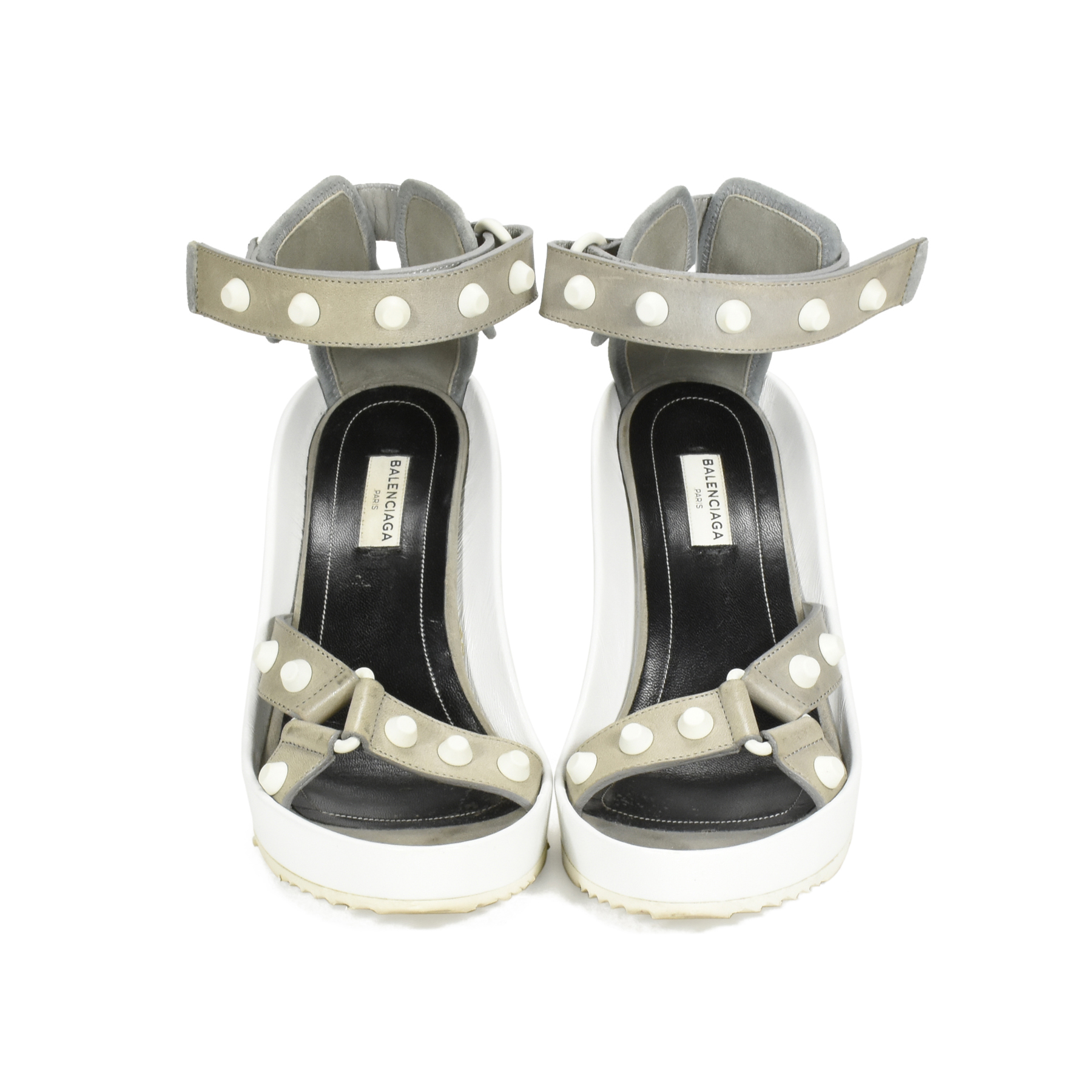 f59535e5c341 Authentic Second Hand Balenciaga Studded Wedge Sandals (PSS-394-00008)