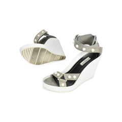 Balenciaga studded wedge sandals grey 2?1505200826