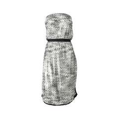 Strapless Metallic Crochet-knit Dress