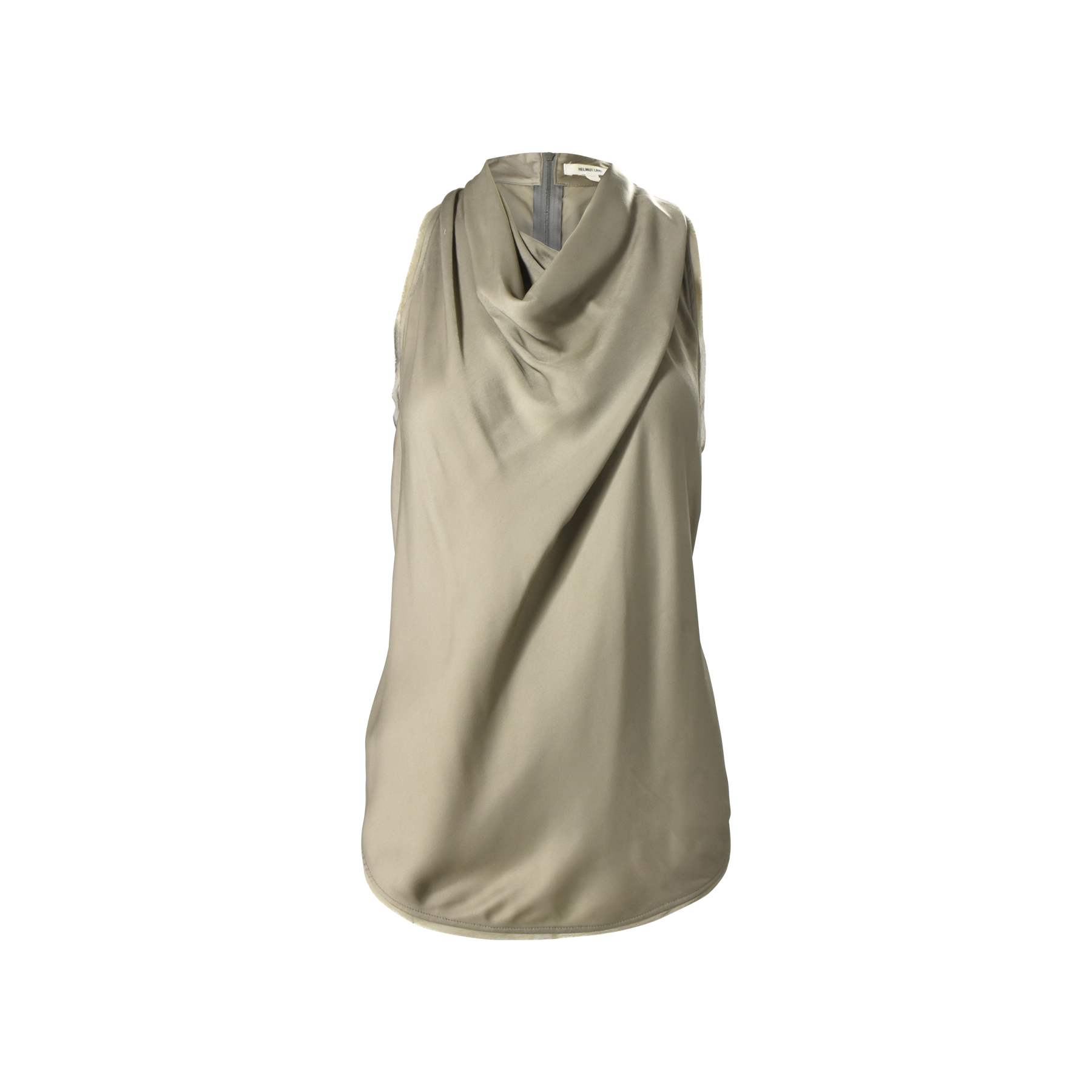 9faef8fb07fd02 Authentic Second Hand Helmut Lang Grey Cowl Neck Top (PSS-048-00114 ...
