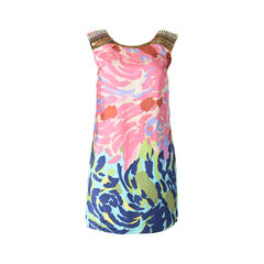 Abstract Printed Shifted Dress