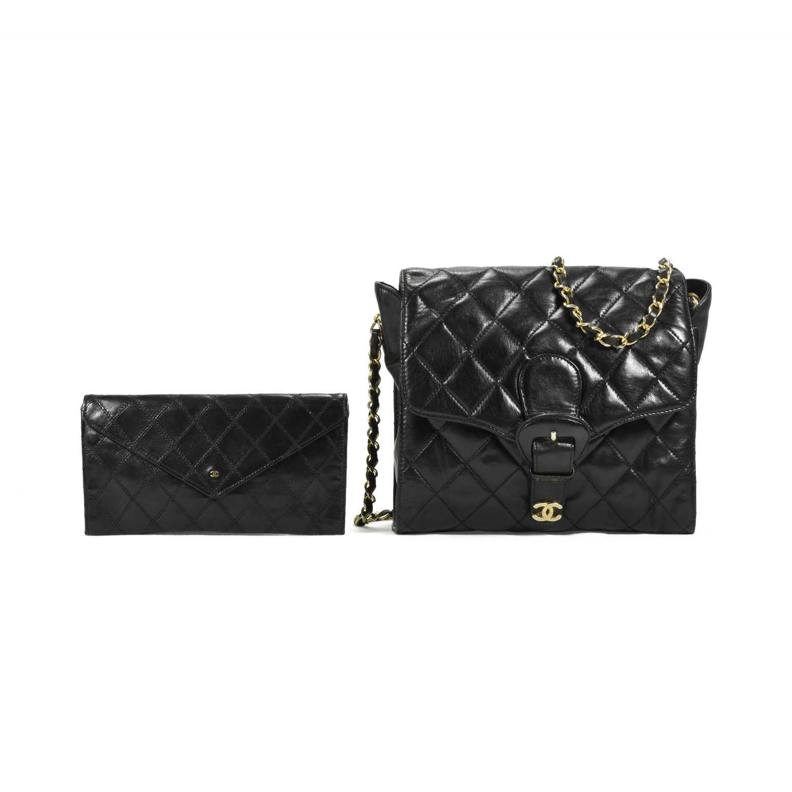 2dfa1238256b ... Authentic Vintage Chanel Crossbody Bag with Wallet (PSS-200-00897) -  Thumbnail ...