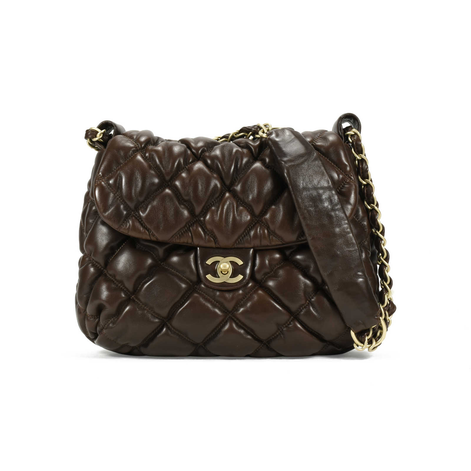 76c10c297983 Authentic Second Hand Chanel Bubble Quilt Small Hobo Flap (PSS-200-00982)  ...