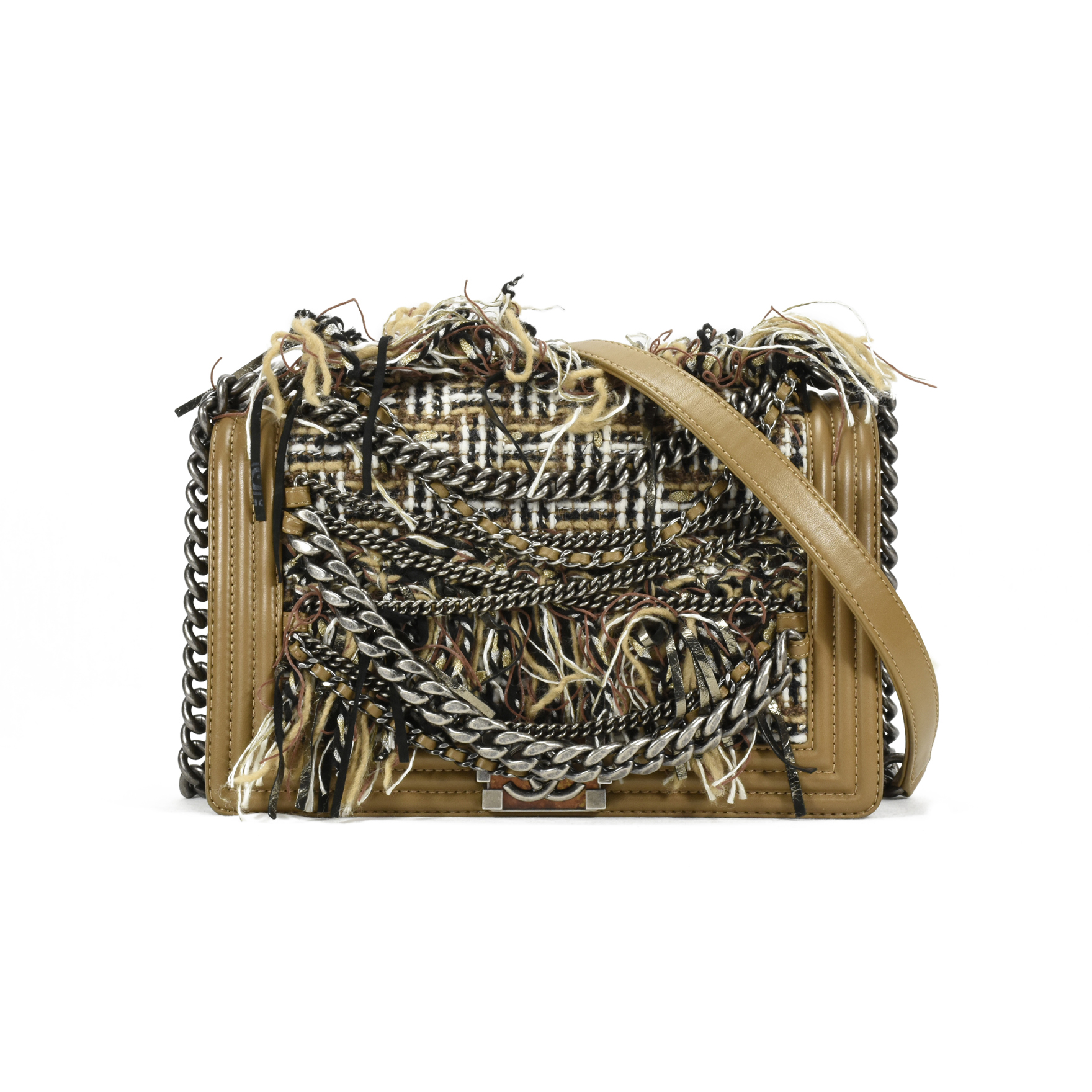 dc7f19f52a3c Authentic Second Hand Chanel Paris Dallas Enchained Fringe Boy Bag  (PSS-200-00986) | THE FIFTH COLLECTION