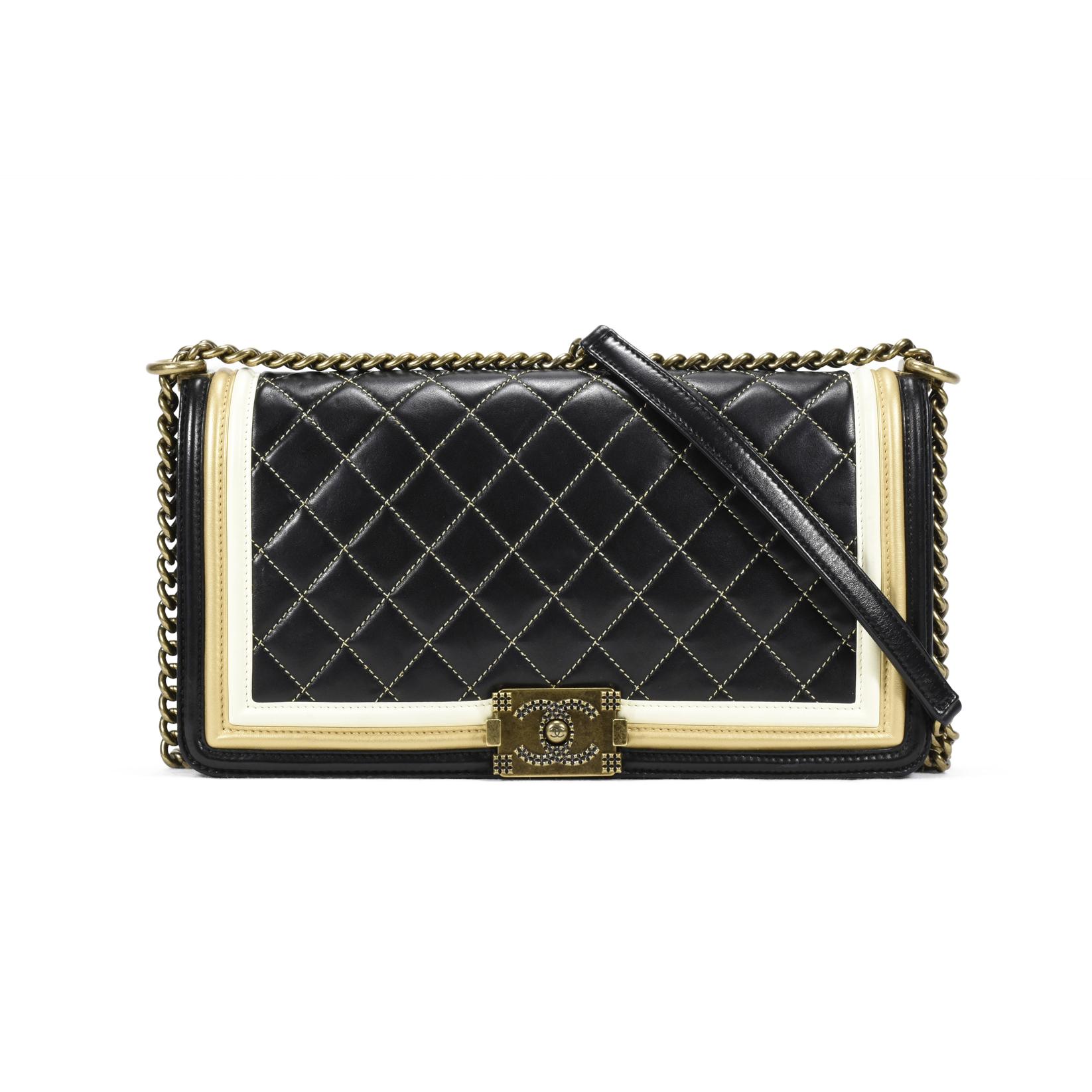 496e2ad3f88b Authentic Second Hand Chanel Chateau Boy Medium Flap Bag (PSS-200-00865) |  THE FIFTH COLLECTION