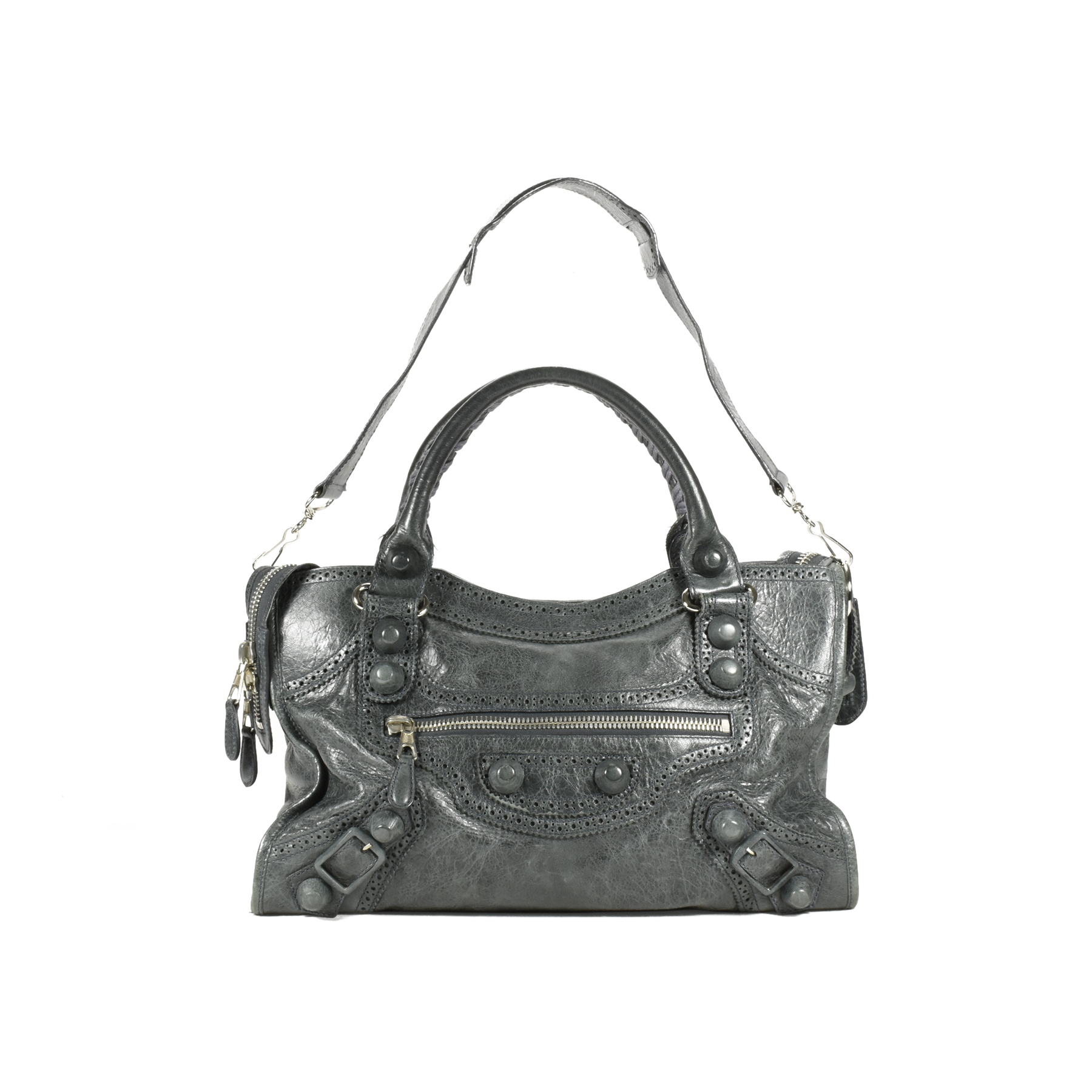 01390c2690 Authentic Second Hand Balenciaga Motorcycle Covered Giant City Bag  (PSS-200-00894) - THE FIFTH COLLECTION