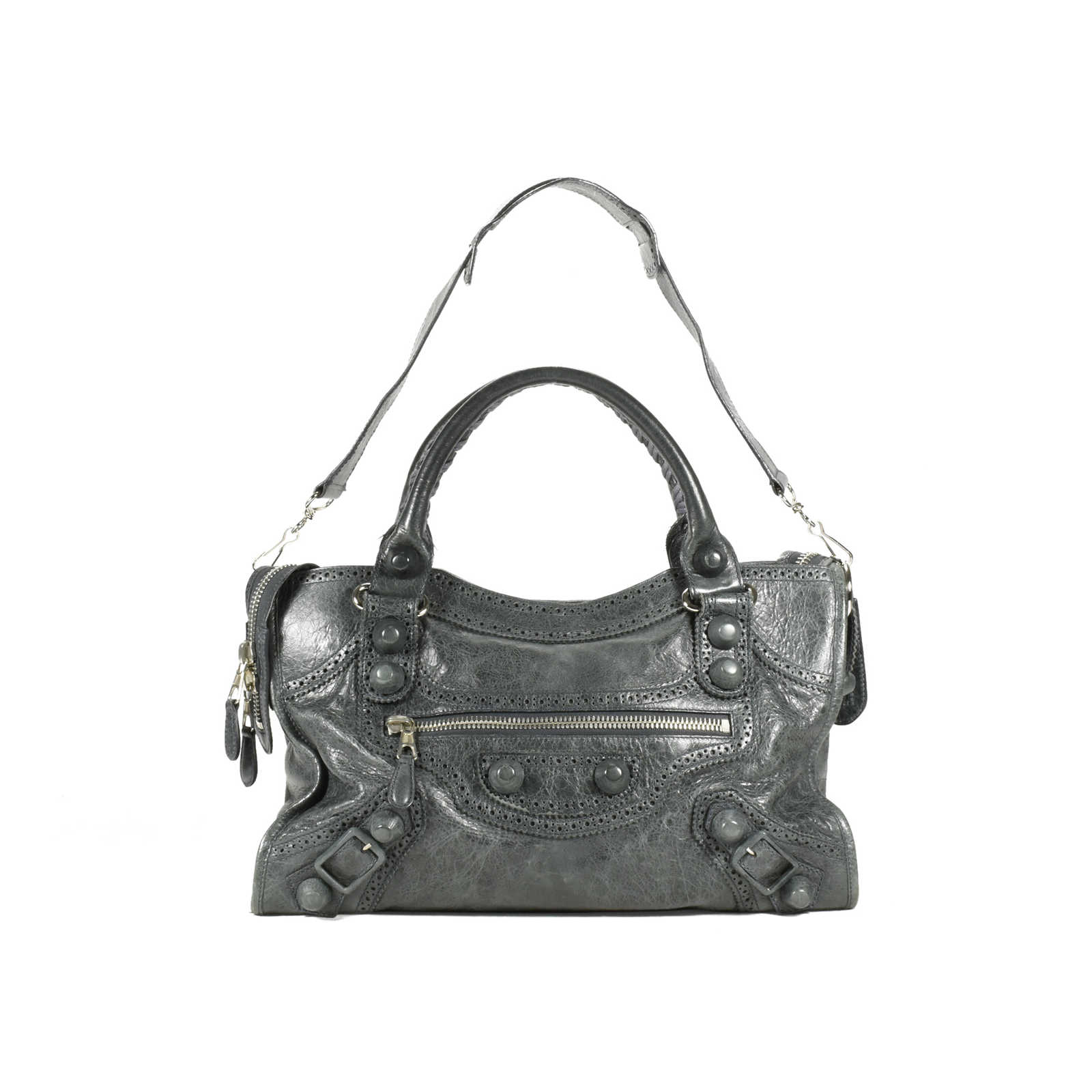 38d14ae27cb2 Authentic Second Hand Balenciaga Motorcycle Covered Giant City Bag  (PSS-200-00894) ...