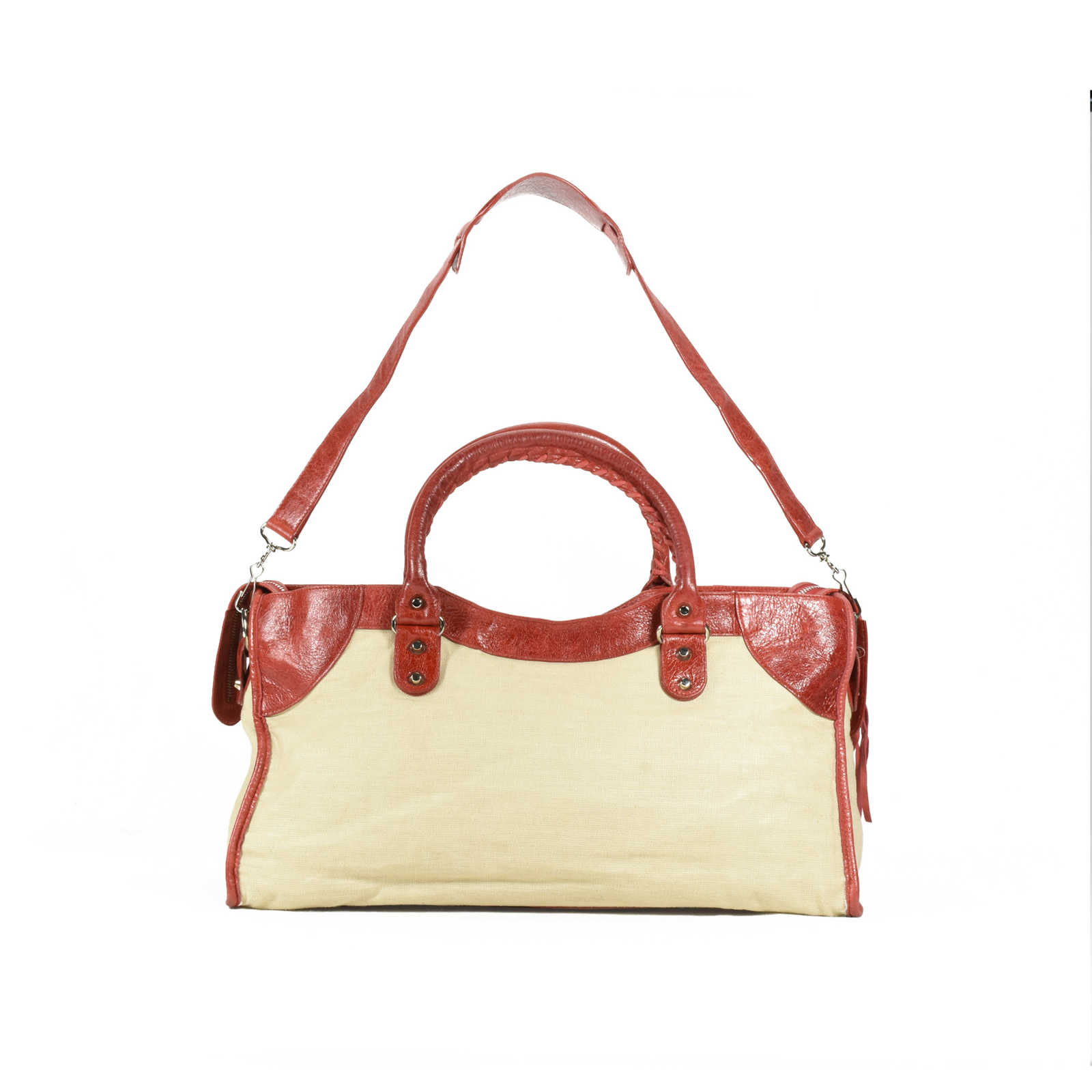 8942e75374 ... Authentic Second Hand Balenciaga Toile Canvas City Bag (PSS-200-00883)  ...