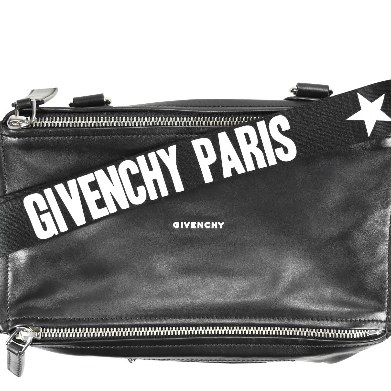 888c67ed7dd ... Authentic Second Hand Givenchy Pandora Medium Bag with Strap Logo  (PSS-200-00886 ...
