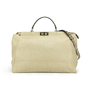 Authentic Second Hand Fendi Large Canvas Snakeskin Peekaboo Bag (PSS-200-00888) - Thumbnail 0