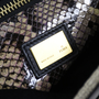 Authentic Second Hand Fendi Large Canvas Snakeskin Peekaboo Bag (PSS-200-00888) - Thumbnail 4