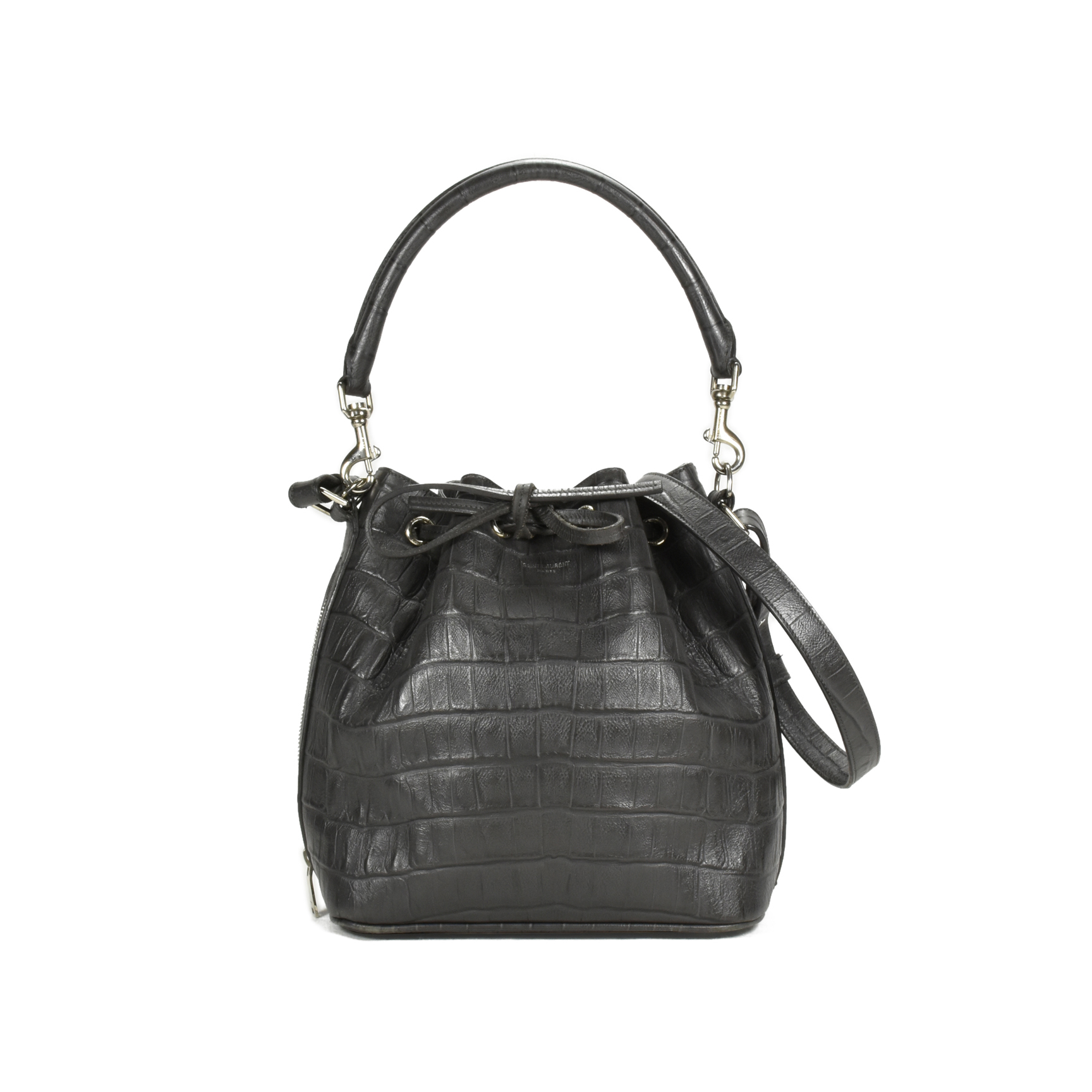 66b06a14bf7 Authentic Second Hand Saint Laurent Emmanuelle Bucket Bag (PSS-048-00084) -  THE FIFTH COLLECTION