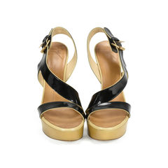 Patent Wedge Sandals