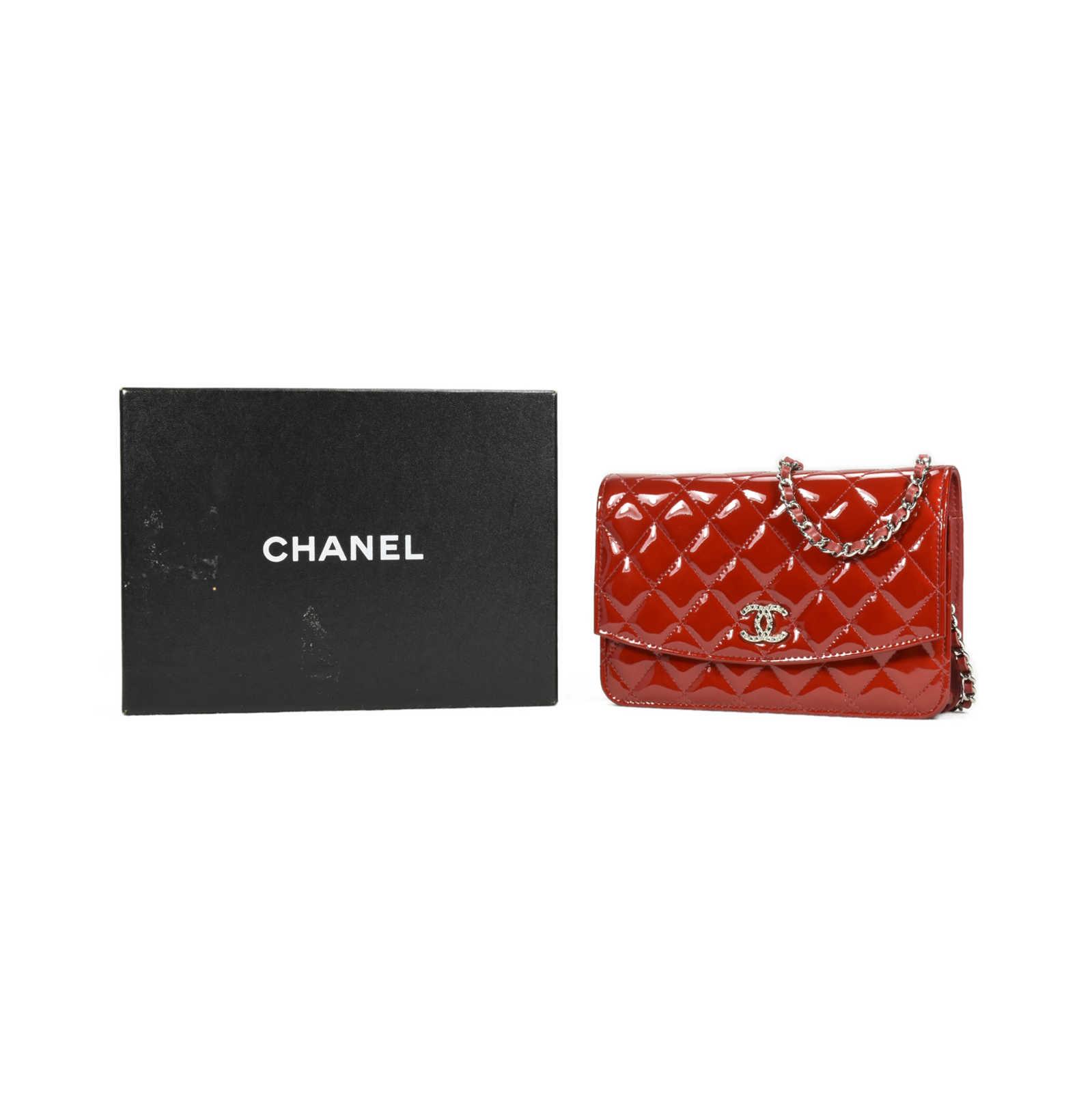 15e72b8de52d ... Authentic Second Hand Chanel Patent Brilliant Wallet on Chain  (PSS-240-00171)