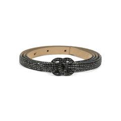 Chanel logo glitter skinny belt 3?1505890275