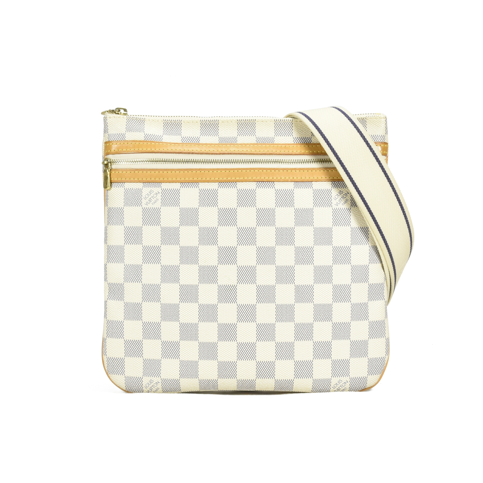 a2057f560988 Authentic Second Hand Louis Vuitton Damier Azur Pochette Bosphore Crossbody  Bag (PSS-400-00003)