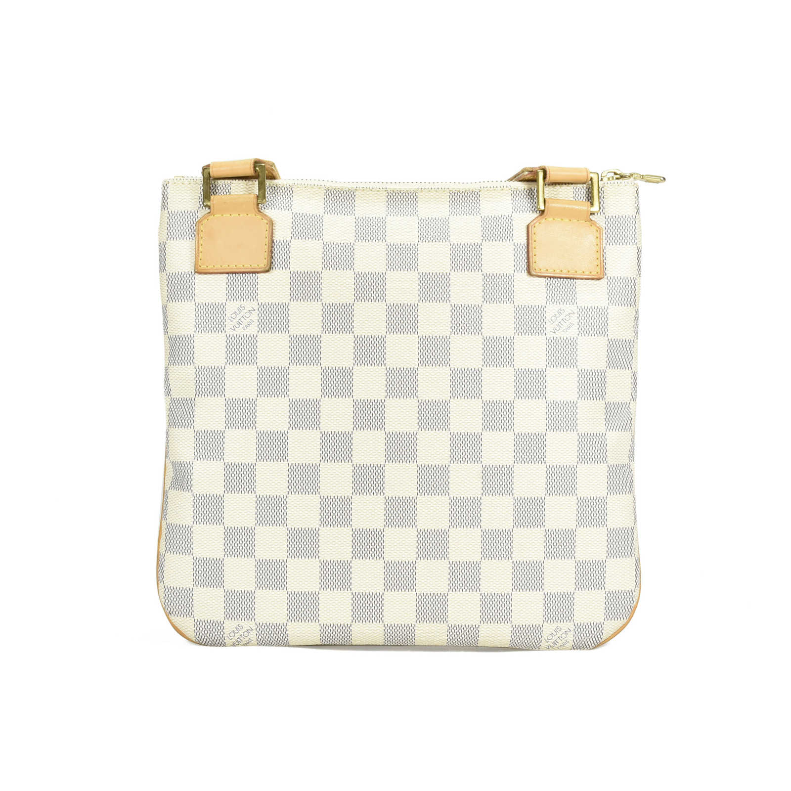 dd103c04b5 ... Authentic Second Hand Louis Vuitton Damier Azur Pochette Bosphore  Crossbody Bag (PSS-400- ...